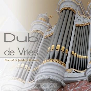 Dub De Vries speelt op de orgel van