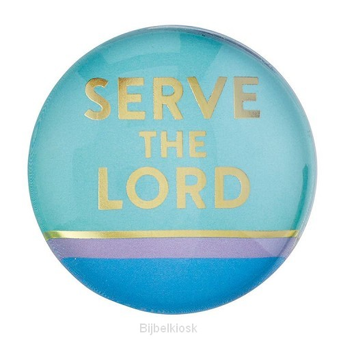 Magnet Round Serve the Lord