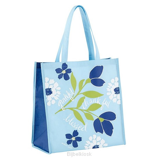 Tote Bag Grateful Thankful Blessed