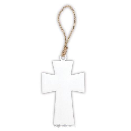 Enamel Cross Medium White