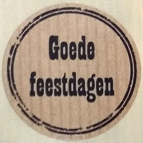 Stickerrol 500 Goede feestdagen MB07 12-