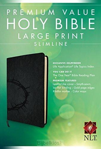 NLT - Value LP Sliml. Bible, Onyx Leathe