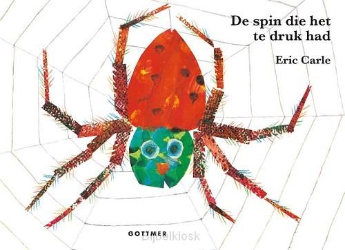 Spin die het te druk had kartonboekje