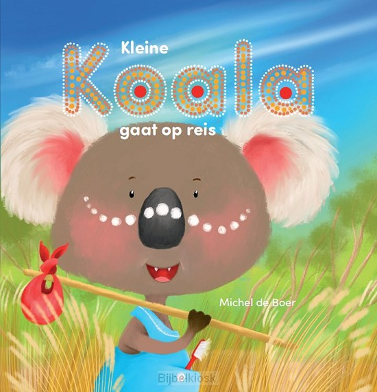 Kleine koala gaat op reis