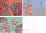 &INK Wenskaarten set - 15 stuks - Aqua - blanco