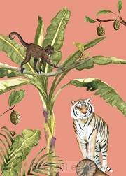 &INK Poster Jungle A4 - Oranje Auteur: A-Journal