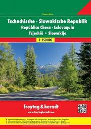 Tsjechië & Slowakije Wegenatlas F&B