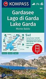 Gardasee, Lago di Garda, Lake Garda, Monte Baldo 1 : 50 000