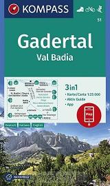 Gadertal, Val Badia 1:25 000
