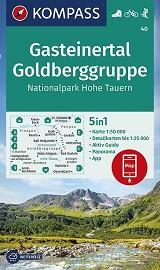 Gasteinertal, Goldberggruppe, Nationalpark Hohe Tauern 1:50 000