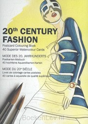 20th Century Fashion - Postcard Colouring Book