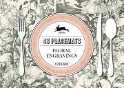 48 placemats floral engravings
