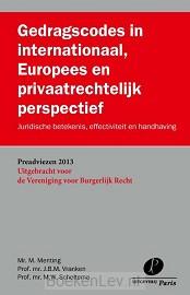 Gedragscodes in internationaal, Europees en privaatrechtelijk perspectief