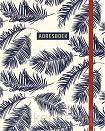 Adresboek (groot) - Botanical Blue