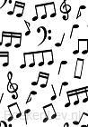 Notenschrift- Notenbalken- ZigZag- (A5) Allets Comfort