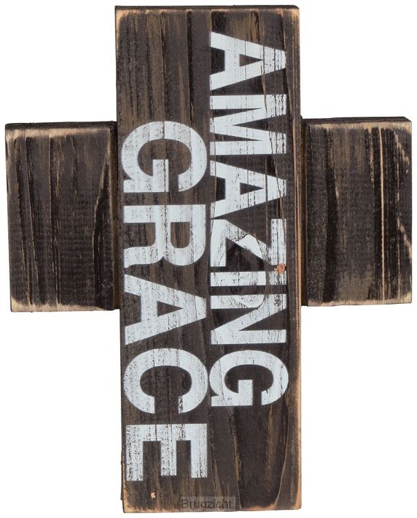 Wooden mini cross amazing grace
