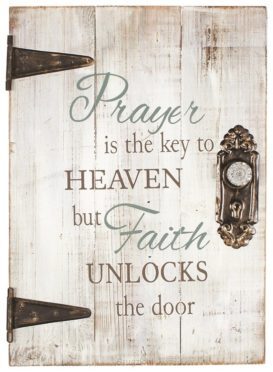 Wall art prayer is the key