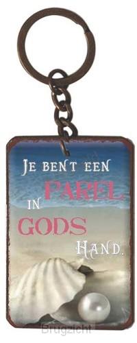 Sleutelhanger je bent een parel in Gods
