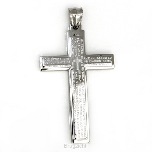 Pendant cross our Father + ketting