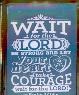 sleutelhanger Wait for the Lord