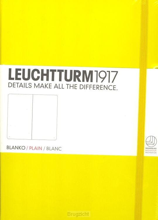 Notebook Medium lemon, plain