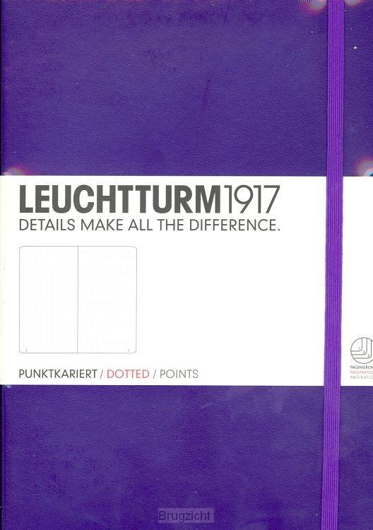 Notebook Medium purple, dotted