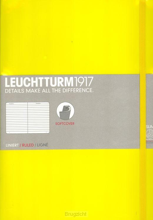 Softcover B5 lemon, ruled