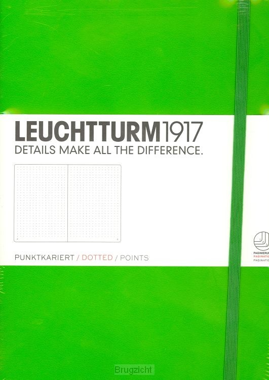 Notebook Medium fresh green, dotted
