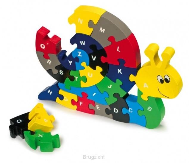 Puzzel Slak alfabet