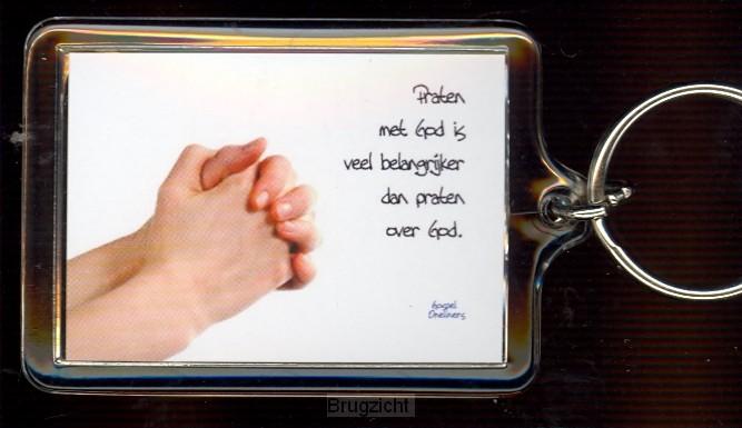 Sleutelhanger praten met God