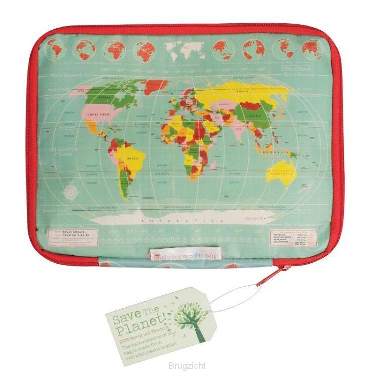 Tablet hoes vintage world map