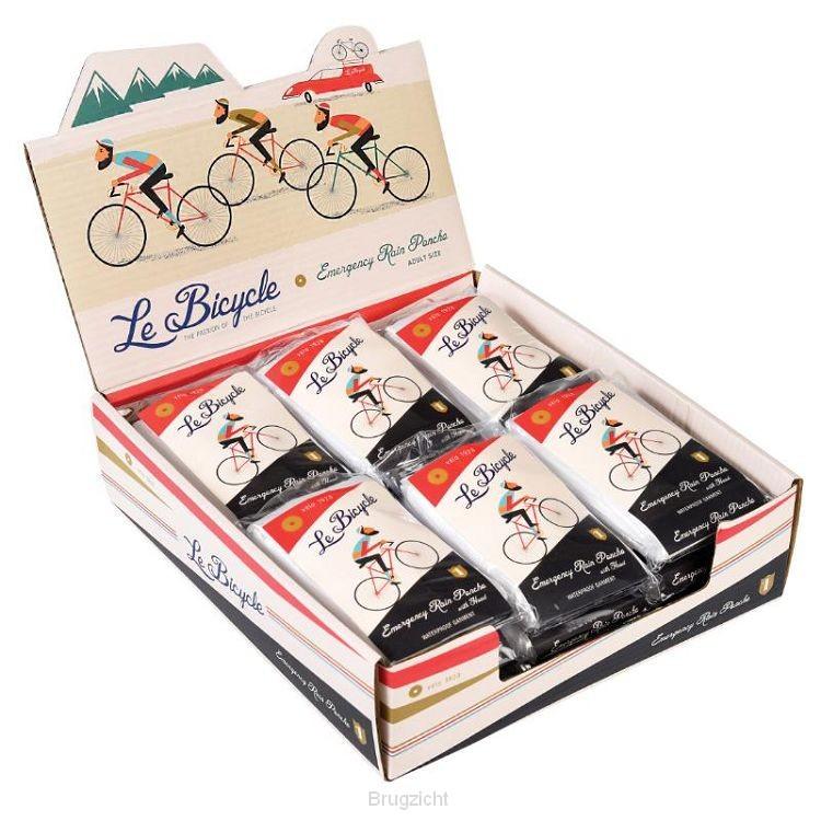 Regen poncho design 'Le Bicycle'