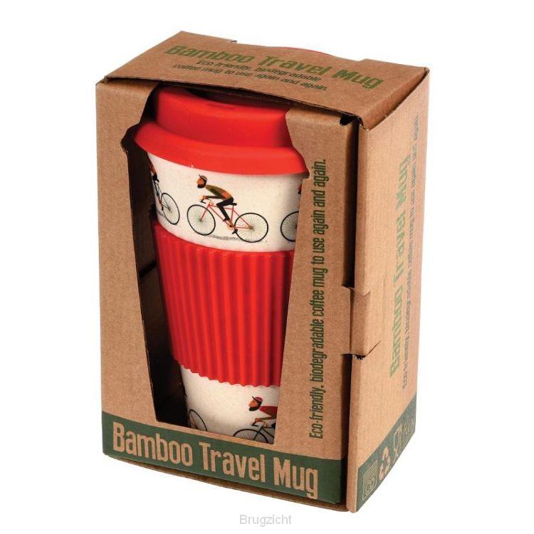 Drinkbeker bamboe voor onderweg design 'Le Bicycle'