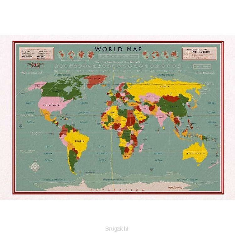 Kaart vintage world map