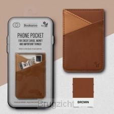 Bookaroo Phone Pocket - Brown