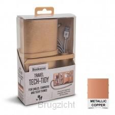 Bookaroo Travel Tech-Tidy - Metallic Copper