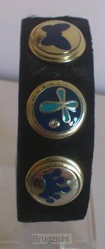 Click bracelet blue/dark blue clicks
