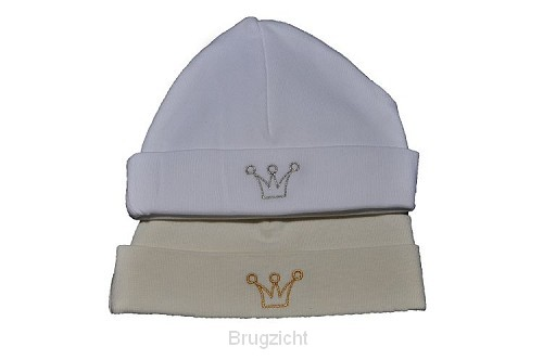 Babyhat white silver crown