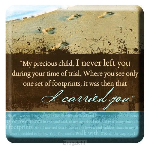 I carried you - Footprints
