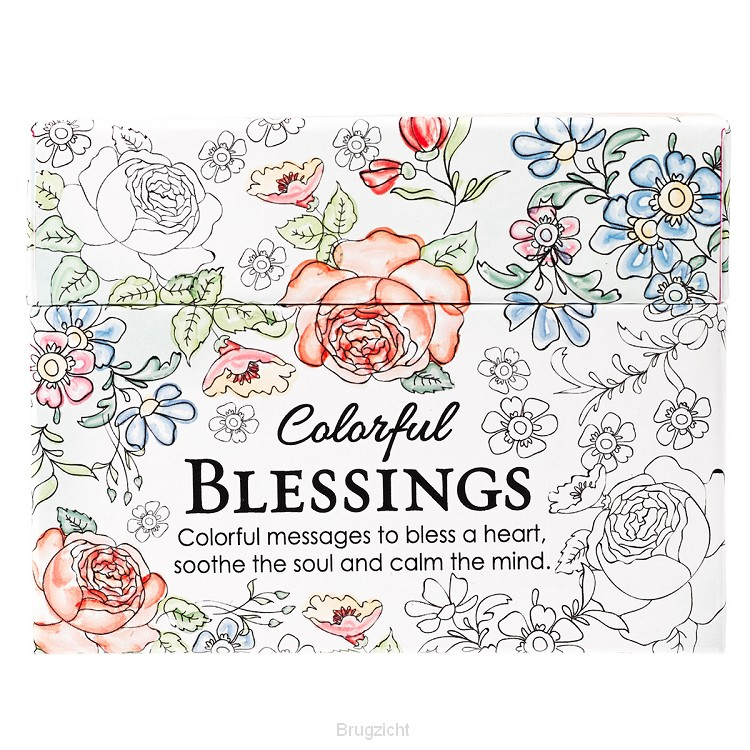 Boxed Coloring Cards Colorful Blessing