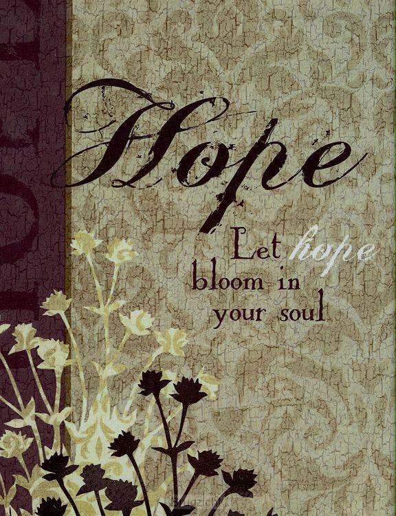 Iron Plaque 'Hope'