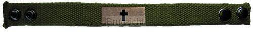 Bronze Cross - Faith Gear Canvas Bracele