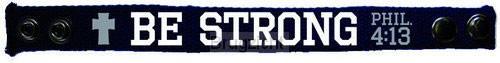 Be Strong - Faith Gear Canvas Bracelet (