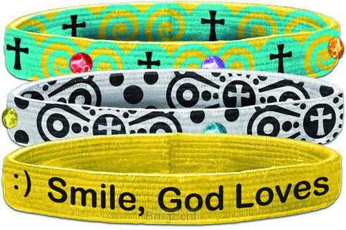 Smile God loves you (Stretch Bangle)