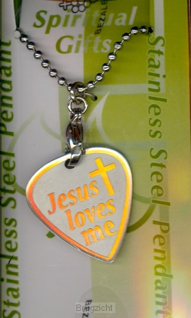 Stenless Steel Pendant Jesus loves me