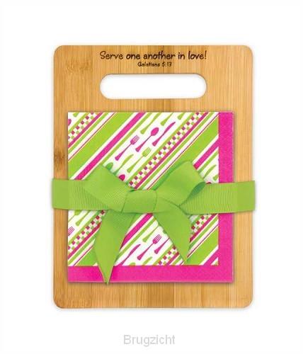 Bon appetit cutting board en napkins