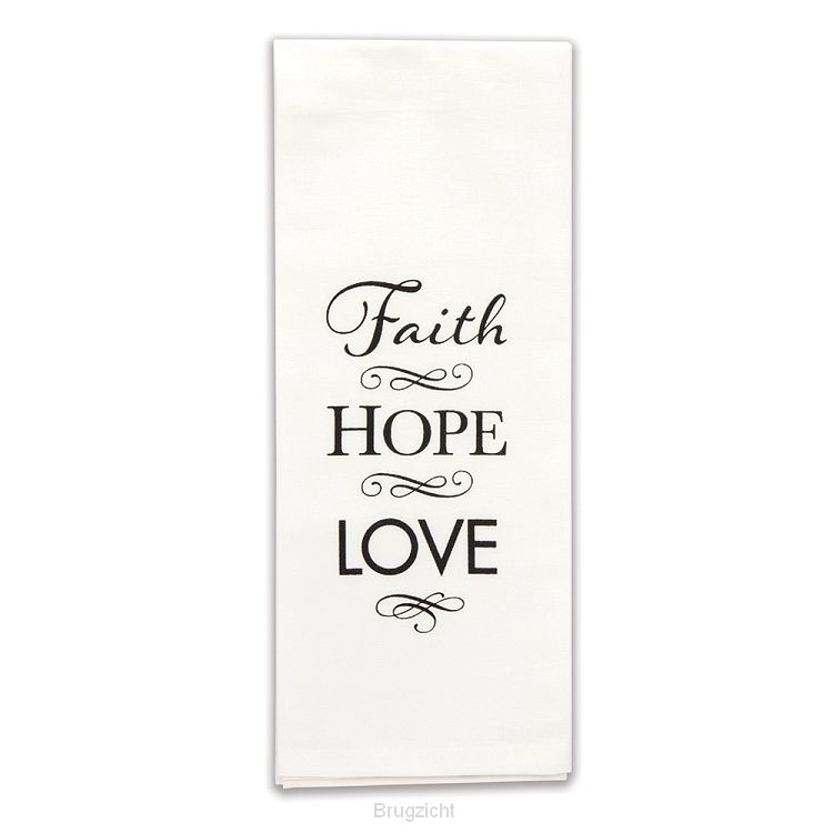 Dish towel faith hope love