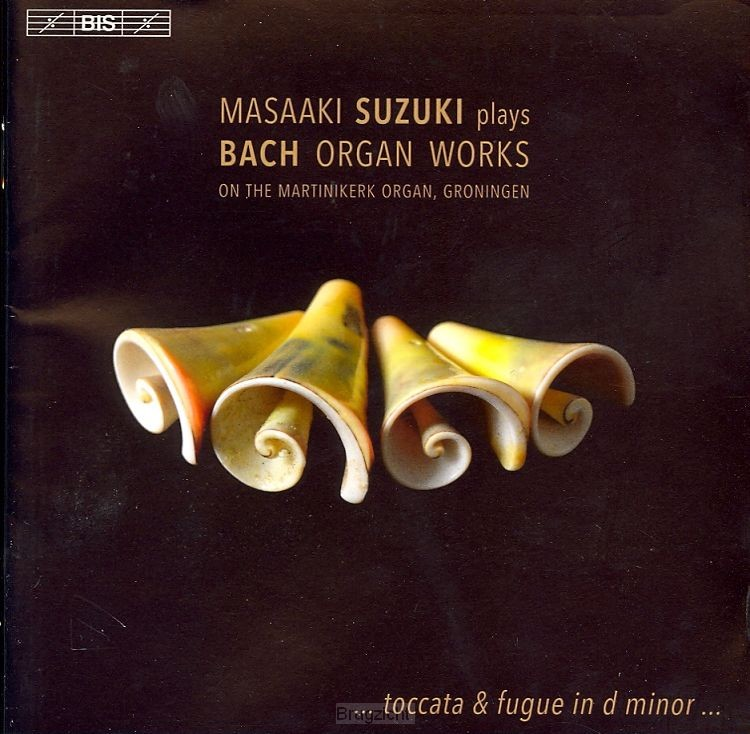 Plays Bach organ works