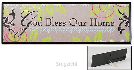 Wooden prayer plaque God bless our home