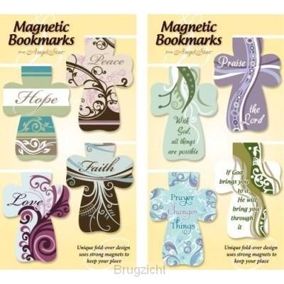 Magnetic bookmark have faith trust set4